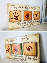 Fathers Day craft- maybe a handprint on each side and a picture in the middle