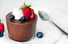 Your guests will never suspect what secret ingredients are in this dairy-free decadent chocolate mousse. Get the vegan-friendly dessert recipe here.
