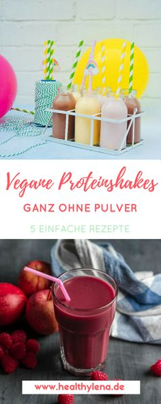Vegan protein shakes - 5 simple recipes (without protein powder) - If you want to build muscle, you need proteins. Today I& going to show you 5 simple recipes f - Post Workout Shake, Post Workout Protein, Protein Shakes, Recipe F, Vegan Protein, Vegan Recipes, Protein Recipes, Vegan Fitness, Easy Meals