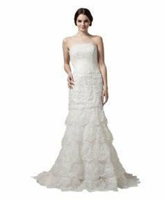 herafa A-Line Long Dress Rows of Lace w35747