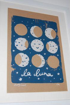 La Luna Screen Print. £24.00, via Etsy.