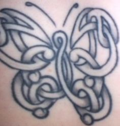Celtic butterfly tattoo. Love this...of course we would Celtic and butterflies a symbolic combination for both of us.