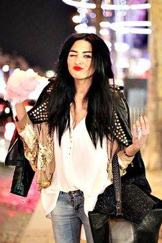 Shop this look on Kaleidoscope (jacket, blouse)  http://kalei.do/WXryM80DcXQYGA5X