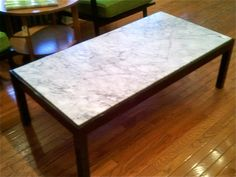 Vintage 1960s Marble Coffee Table by bcdrygoods on Etsy, $425.00