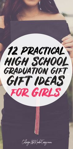 High School Graduation Gift Ideas that are great for girls or for daughters. These ideas are practical and creative. Grads will love getting these gifts! #giftguide #graduationgift #graduated via @esycollegelife