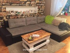 The recycled pallets can be conveniently transformed into a coffee table with storage. The table will be crafted like an ordinary table but a little alteration will be done by giving a depth for the storage. The sanded look to pallets will enhance the beauty.