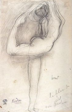 Francois Auguste Rodin Wind C 1900 Graphite on Paper Auguste Rodin, Life Drawing, Drawing Sketches, Art Drawings, Modern Sculpture, Sculpture Art, Metal Sculptures, Abstract Sculpture, Bronze Sculpture