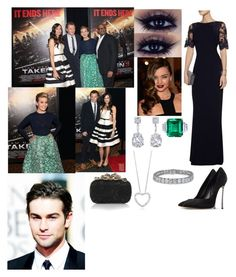 """Flashback: Attending The Taken 3 Premiere"" by dawn-windsor ❤ liked on Polyvore featuring Casadei, GALA, Badgley Mischka and Nina Ricci"