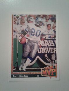 1991 UPPER DECK TEAM  MVP BARRY SANDERS CARD # 458