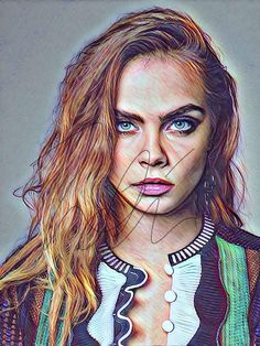 Cara Delevingne Drawing Sketch PRINT Hand Drawn Wall Art Drawing Prints, Print, Colorful Drawings, Cara Delevingne Wallpaper, Prismacolor Drawing, Drawings, Cara Delevingne Drawing, Original Drawing, How To Draw Hands