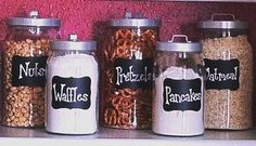 Kitchen Canister Labels - have premade flour mixture for items...