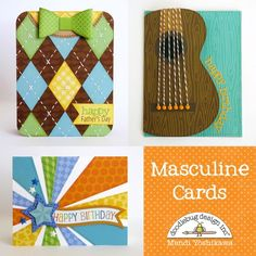 Doodlebug Masculine Cards by Mendi Yoshikawa : Gallery : A Cherry On Top