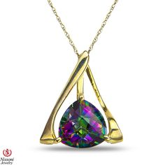 Ebay NissoniJewelry presents - Ladies Pendant and chain with Mystic Topaz in 10k Yellow Gold    Model Number:P7825-Y0MST    http://www.ebay.com/itm/Ladies-Pendant-and-chain-with-Mystic-Topaz-in-10k-Yellow-Gold/221630362728
