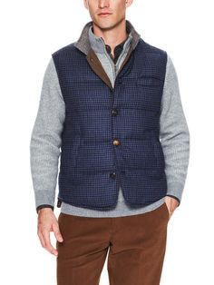 Down Filled Vest by Luciano Barbera at Gilt