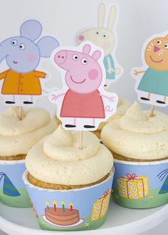 Peppa & George Pig Birthday Party via Kara's Party Ideas | KarasPartyIdeas.com #peppapigparty (17)