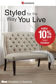 Decorate your home for living - and for less with extra 10% off Select Furniture of America*. Whether you love traditional elegance or a more contemporary flair, Furniture of America has the home furnishings you need to get the look you want in your home.