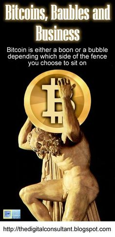 Bitcoins, Baubles and Business.  Bitcoin is either a boon or a bubble depending which side of the fence you choose to sit on.  http://thedigitalconsultant.blogspot.co.nz/2013/05/bitcoins-baubles-and-business.html #bitcoins #economy #ecommerce