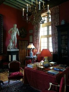 """Chateau de Cormatin .- Le salon Gunsbourg- style dit """"éclectique"""""""