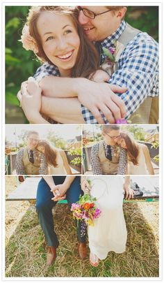 i love love love this wedding. it's so personal and they look so adorably happy in all their photos.