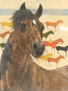 Judy Larson - Elk Dog Tipi - LIMITED EDITION CANVAS from the Greenwich Workshop Fine Art Gallery featuring fine art prints, canvases, books, porcelains and gift ideas. Bev Doolittle, Native American Horses, Indian Horses, Workshop, Painted Pony, American Indian Art, Equine Art, Native Art, Wildlife Art