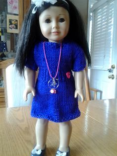 Ravelry: Knitted Dress for American Girl Doll free pattern by Ann Saglimbene