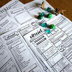 These hand drawn character sheets have been customised to support the Fifth Edition of everyone's favourite roleplaying game! Individual sheets with class-specific features included and arranged to make playing your favourite class easy and fun. This druid individual character sheet pack is a digita