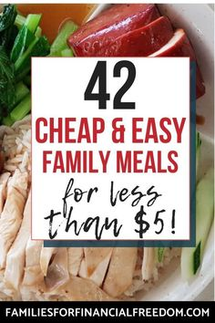 40+ cheap recipes for a tight budget! (2) Find easy ideas for cheap recipes for dinner, lunch, breakfast! Cheap recipes for one, for two, or for more! Great cheap recipes for college students! Cheap recipes for families or for a crowd or large group! Cheap recipes for chicken, pasta, and rice! #recipes #dinner #dinnerrecipes #easydinner #easydinnerrecipes #familydinner #cheapdinners #cheapmeals #meals #savemoney #money #finance #family #save #frugal #budget #30minutemeals #mealprep…