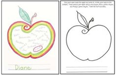 """Name activities: FREE """"Find your name"""" apple craftivity.  Completed projects make a cute bulletin board too."""