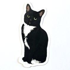 Cut Cat, Cat Cards, Cat Stickers, Aesthetic Stickers, Cat Tattoo, Cat Drawing, Cute Cartoon, Cartoon Cats, Cat Gifts