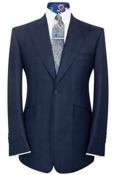 William Hunt Savile Row Federal blue shadow check two piece suit Slim Fit Suits, Tailored Suits, Suit Fashion, Mens Fashion, Luxury Fashion, Charcoal Gray Suit, Grey Two Piece, Made To Measure Suits, Suit Combinations