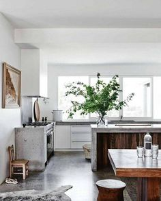 countertop ideas concrete and wood counter kitchen