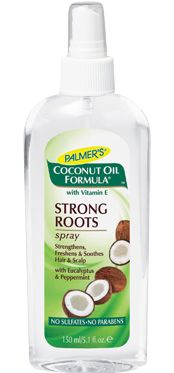 Palmers Coconut Oil Formula Strong Roots Spray makes my scalp feel brand new.