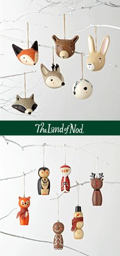 The Land of Nod offers kid friendly Christmas ornaments your family will treasure for years to come. Offering personalized ornaments, adorable ornaments for baby's first Christmas and much more.