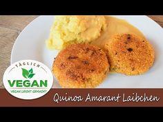 Quinoa Amarant Laibchen Vegan, Quinoa, Mashed Potatoes, Videos, Ethnic Recipes, Youtube, Food, Recipies, Whipped Potatoes