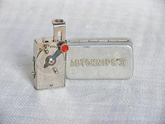 Manual self timer Autoknips II Vintage camera accessories Mechanical clockwork timer Christmas gift photographer Vintage gift idea for him