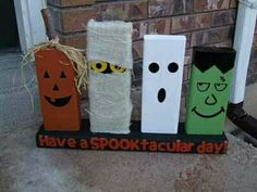 Have extra brick laying around? Craft them into Halloween Brick! www.glengery.com