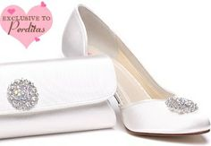 Audry Ivory Dyeable Shoes, Vintage Trim, Padded | Wedding shoes by Perdita's
