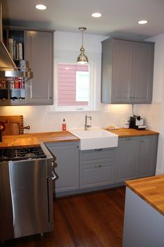 Before & After: Christina's Warm Wood Kitchen — The Big Reveal Room Makeover Contest 2015 | Apartment Therapy