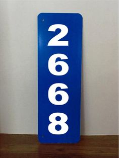 Reflective Blue 911 Address Aluminum Sign by GraniteCityGraphics on Etsy Commercial Signs, Aluminum Signs, Material Design, Flip Clock, How To Apply, Lettering, Blue, Etsy, Calligraphy