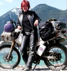 "lois ""on the loose"" pryce, adventure rider"