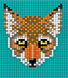 46 Ideas For Knitting Charts Fox Perler Beads Knitting Charts, Knitting Stitches, Free Knitting, Knitting Patterns, Crochet Patterns, Cross Stitching, Cross Stitch Embroidery, Cross Stitch Patterns, Tumblr Embroidery