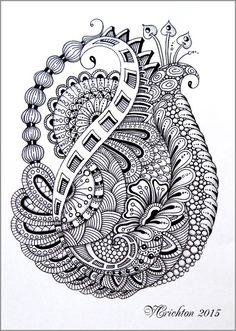Zentangle art 3.