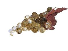 vintage grape cluster Christmas corsage crystal and by mudintheUSA #epsteam