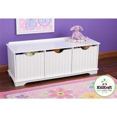 Amazon.com : KidKraft Nantucket Storage Bench : Childrens Storage Furniture : Toys & Games to go under window