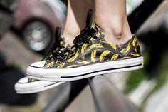 CONVERSE CHUCK TAYLOR WARHOL OX BLACK/WHITE/FREESIA available at www.tint-footwear.com/converse-chuck-taylor-warhol-ox-149536c  converse chuck taylor chucks all star andy warhol banana sneaker tint footwear studio