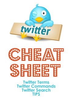 """Twitter """"Cheat Sheet""""  This is the good kind of cheating.    #iste2013 #twitter"""
