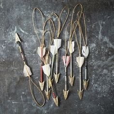 Boho Arrow Ornaments | Bohemian Holiday Decor
