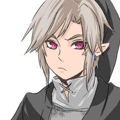 Dark Link, but he looks less like ima kill you and more like I know I'm c cute, stay away