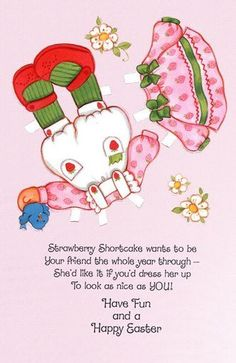 Strawberry Shortcake Easter Card