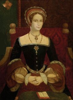 Queen Mary I, daughter of Henry VIII and Catherine of Aragon. I've never seen this portrait. She looks beautiful here compared to her other portraits. History Of England, Tudor History, European History, Women In History, British History, Asian History, Dinastia Tudor, Mary Tudor, Tudor Rose